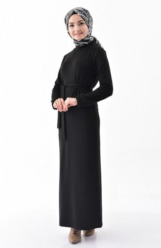 iLMEK Belted Knitted Dress 5212-02 Black 5212-02