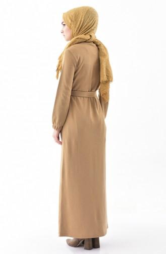 iLMEK Belted Knitted Dress 5212-03 Mink 5212-03