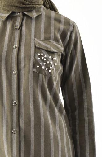 Pearls Tunic 0854-02 Khaki 0854-02