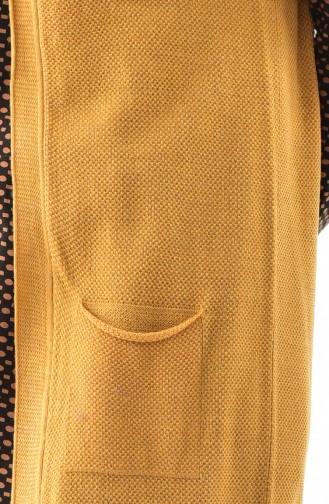 Trikot Weste mit Tasche 4120-08 Senf 4120-08