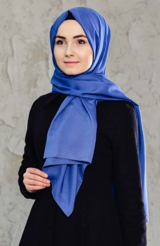 Plain Cotton Shawl  12146-03 Indigo 12146-03