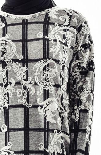 Silbriges Fledermausarm Kleid 9979-01 Grau 9979-01