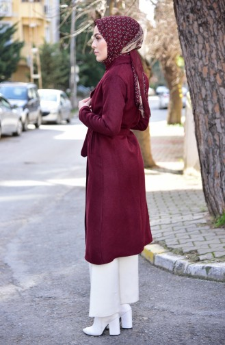 Claret red Long Coat 0880-04