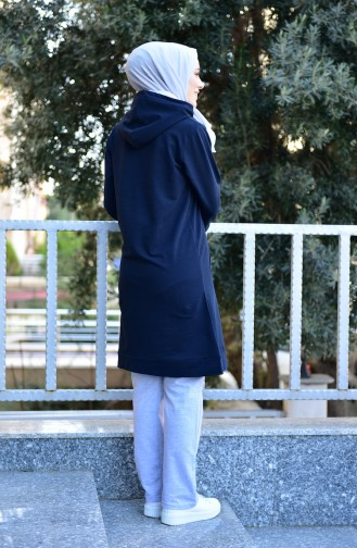 Hooded Tracksuit Suit 18135-02 Navy 18135-02
