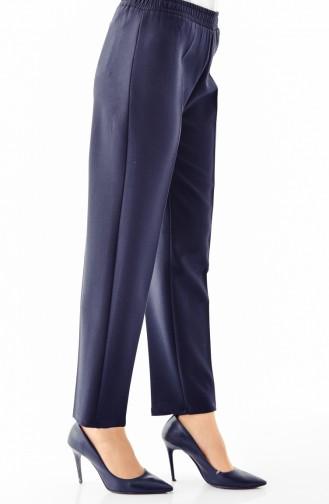 Elastic Waist Pants 2062 A-01 Navy Blue 2062A-01