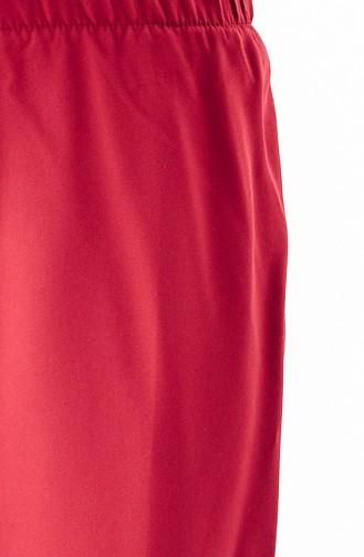 Beli Lastikli Pantolon 5213-05 Bordo