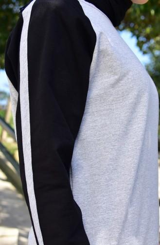 بدلة رياضية 18100-03 لون رمادي واسود 18100-03