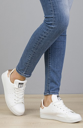 Women Sneakers 2019-04 White Gold 2019-04