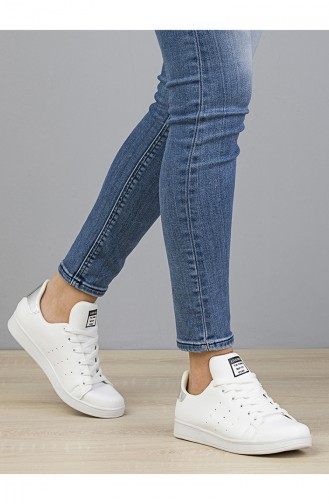 Women Sneakers 2019-06 White Silver 2019-06