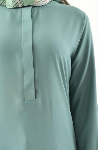 Buglem Asymmetric Tunic 1192-02 Almond Green 1192-02
