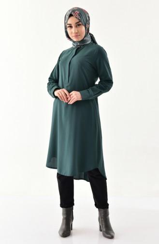 Buglem Asymmetric Tunic 1192-04 Emerald Green 1192-04