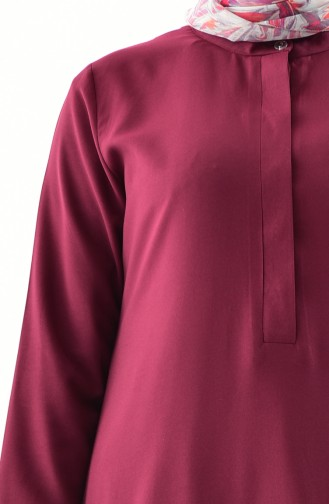 Buglem Asymmetric Tunic 1192-07 Claret Red 1192-07