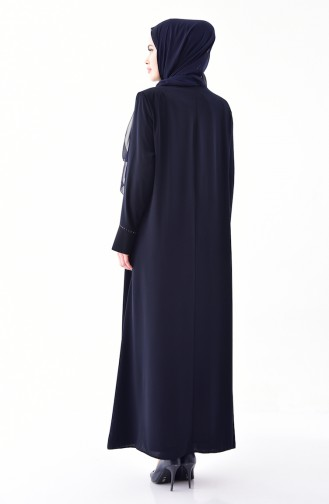 Dark Navy Blue Abaya 0003-04