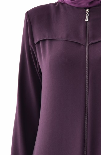 Abaya a Fermeture 0002-01 Pourpre 0002-01