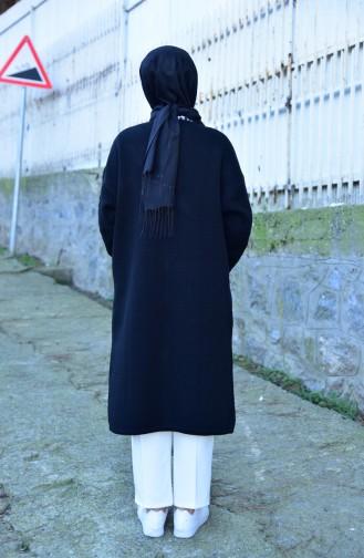 iLMEK Tress Pattern Knitwear Cardigan 4118-04 Black 4118-04