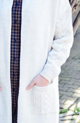 Knit Pattern Trikcot Cardigan 4118-06 Beige 4118-06