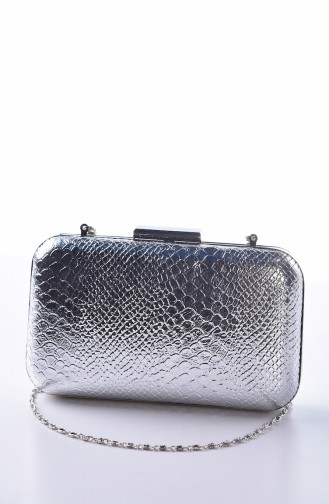 Silver Gray Portfolio Hand Bag 0270-04