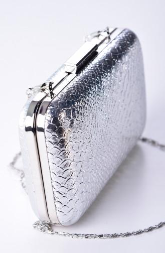حقيبة يد رمادي فضي 0270-04