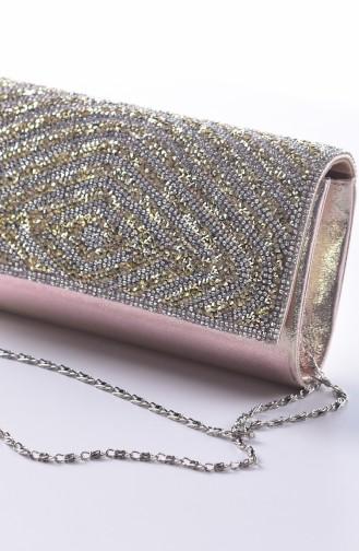 Gold Colour Portfolio Hand Bag 0426-03
