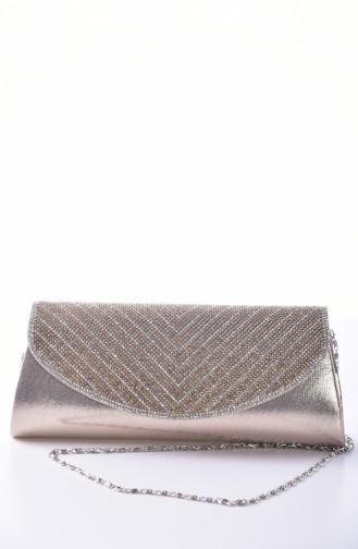 Gold Colour Portfolio Hand Bag 0456-04