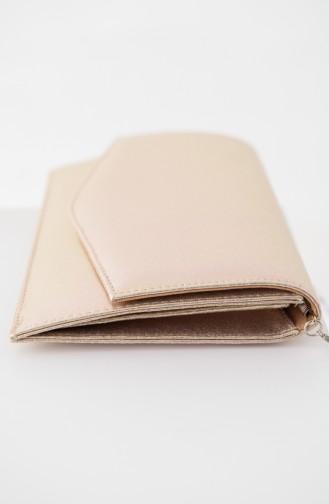 Gold Colour Portfolio Hand Bag 0460-04