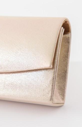 Gold Colour Portfolio Hand Bag 0474-02