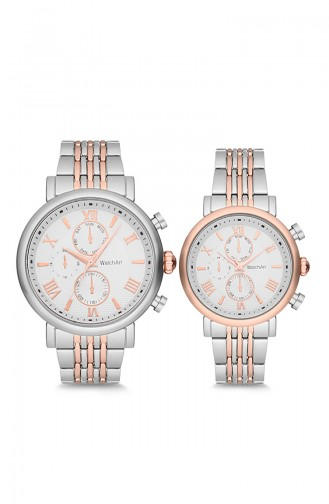 WatchArt Couple Wrist Watches MWWA350041 Gray Rose 350041