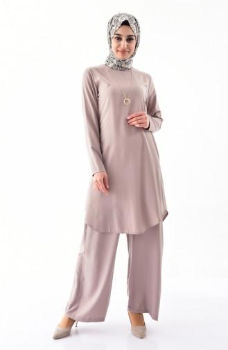 Necklace Tunic Trousers Double Suit 1187-09 Mink 1187-09