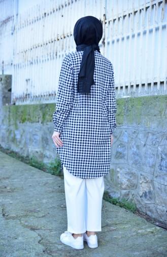 Chequered Tunic 8116-08 Black White 8116-08