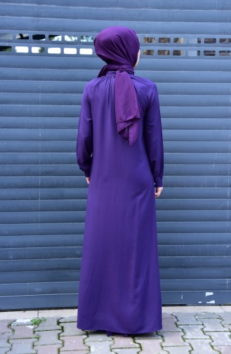 Viscose Long Button Tunic 8120-08 Purple 8120-08