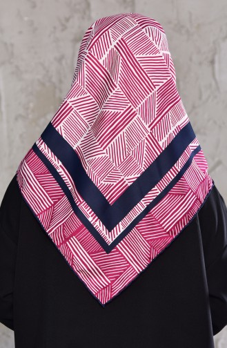Patterned Rayon Shawl 901438-14 Fuchsia 901438-14