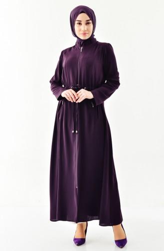 Abaya a Fermeture 0004-04 Pourpre 0004-04