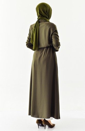 Abaya a Fermeture 0004-03 Khaki 0004-03