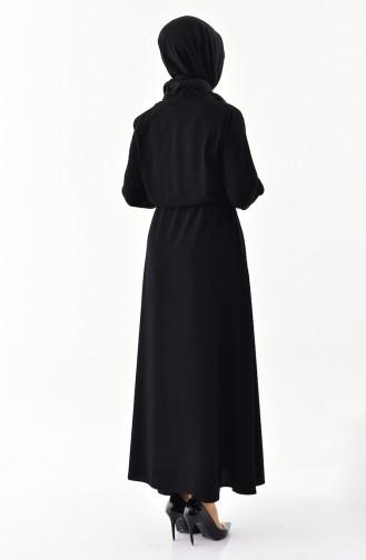 Fermuarlı Ferace 0004-01 Siyah