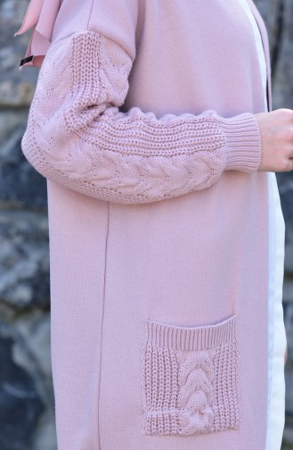 iLMEK Tress Pattern Knitwear Cardigan 1 4118-01 Powder 4118-01