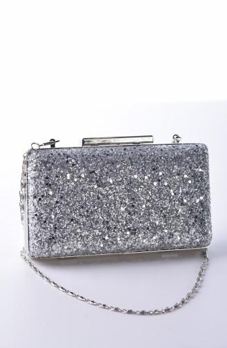Silver Gray Portfolio Hand Bag 0250-04