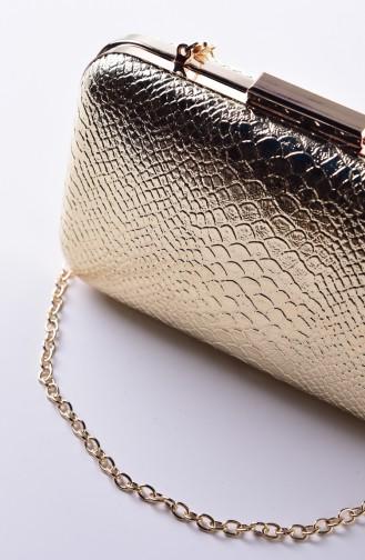 Gold Colour Portfolio Hand Bag 0270-01