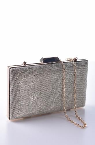 Damen Abendkleid Tasche 0274-02 Gold 0274-02