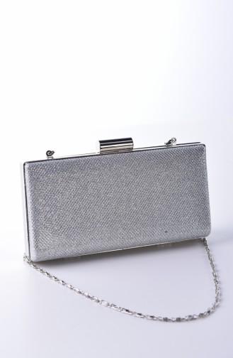 Damen Abendkleid Tasche 0279-01 Silber 0279-01