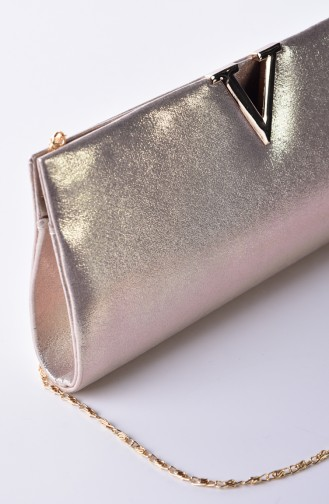 Gold Colour Portfolio Hand Bag 0410-03