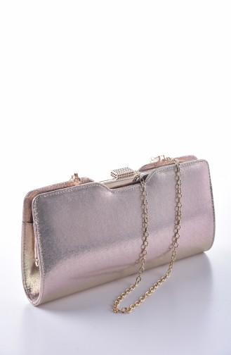 حقيبة يد لون ذهبي 0413-01