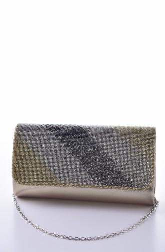 Gold Colour Portfolio Hand Bag 0428-05