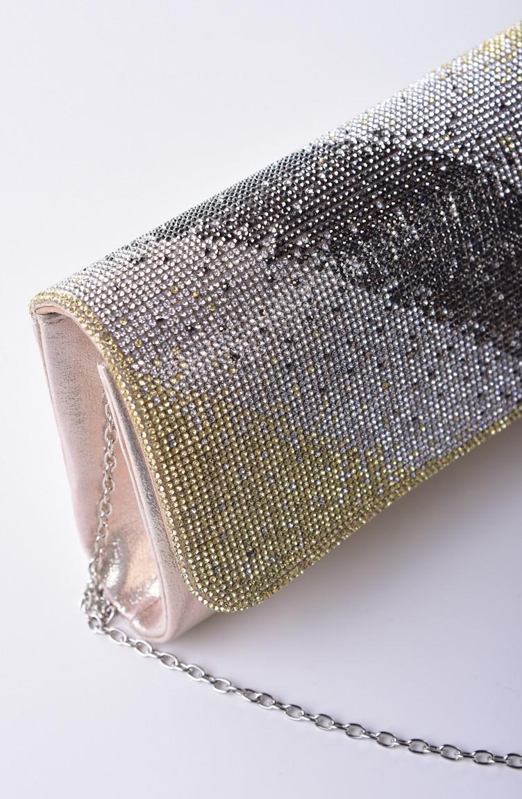 1b6ebda936a51 Gold Colour Portfolio Hand Bag 0428-05