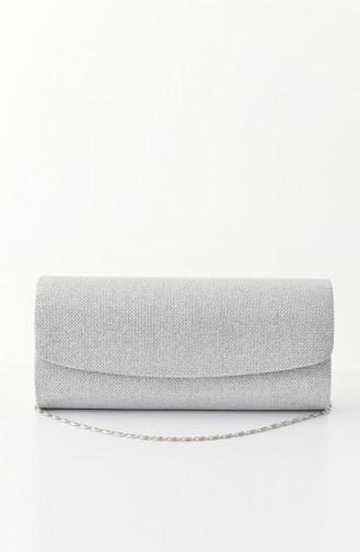 Silbergrau Portfolio Handtasche 0477-03