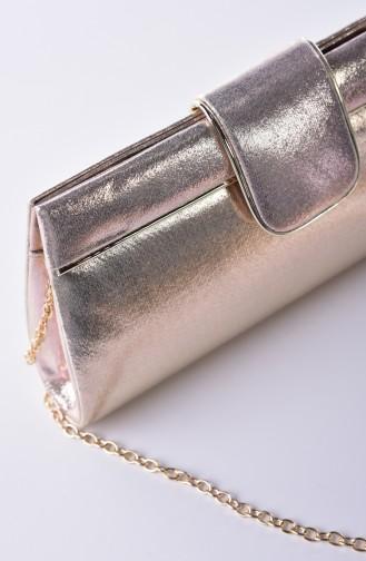 حقيبة يد لون ذهبي 0494-02