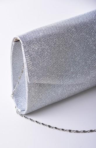 Silver Gray Portfolio Hand Bag 0497-02