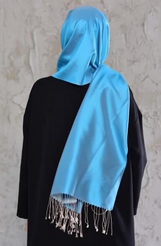Misiny Silk Shawl  542115-01 Turquoise 542115-01