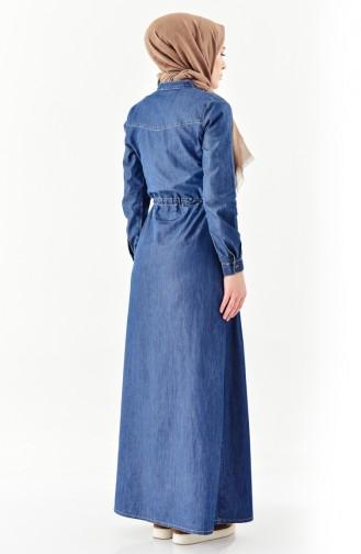 Light Navy Blue Dress 9200-03