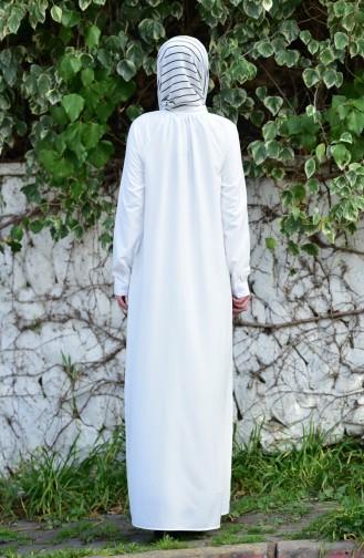 Oyya Viscose Button Dress 8119-03 White 8119-03