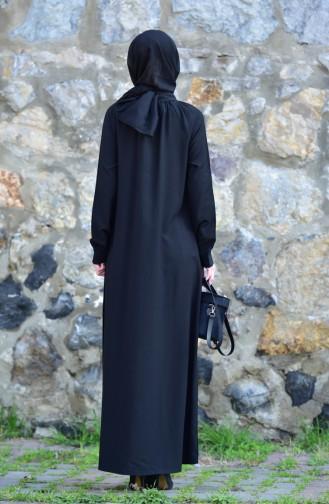 Oyya Viscose Button Dress 8119-08 Black 8119-08